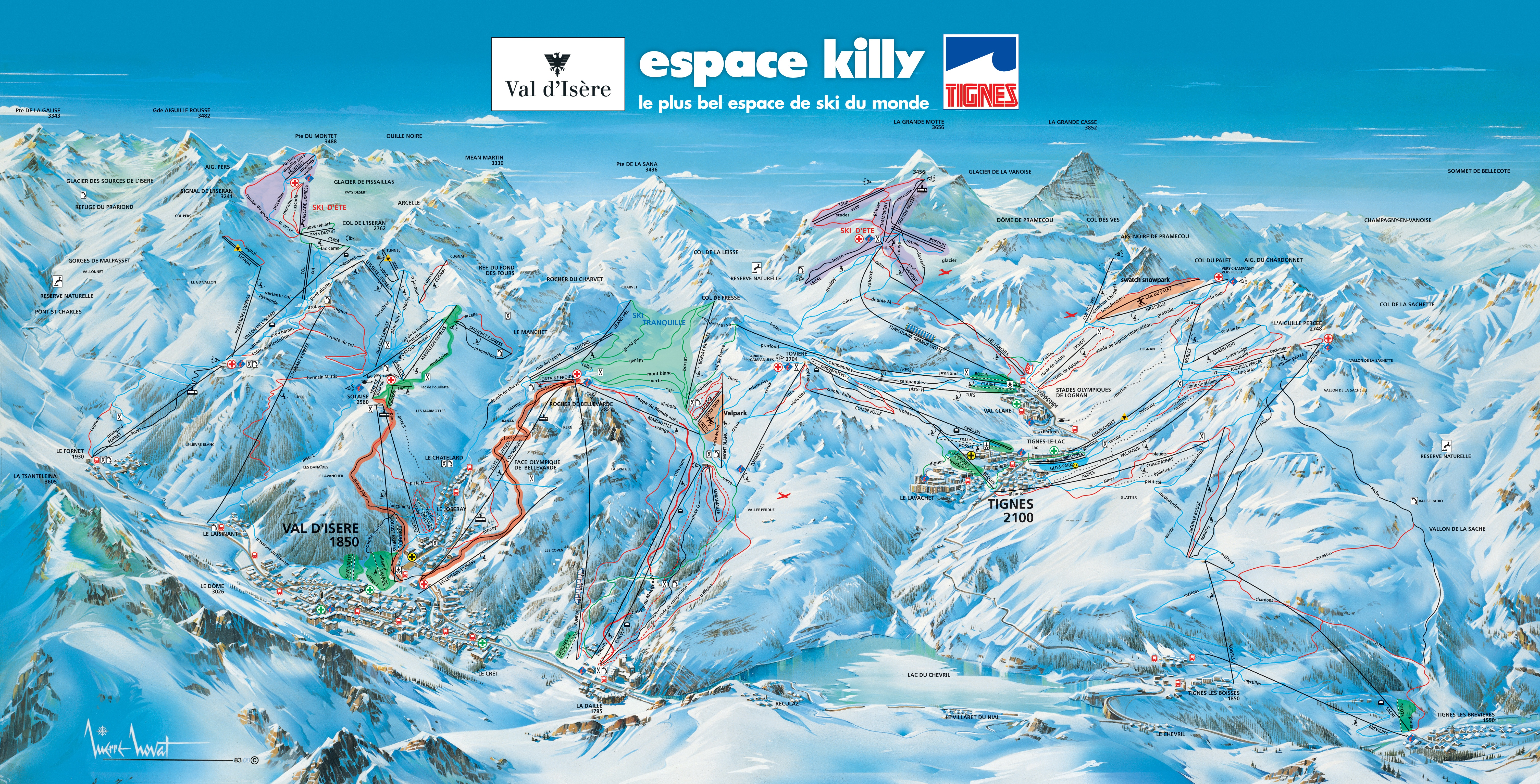 Maps And Webcams Simply Val D Isere Specialist Travel